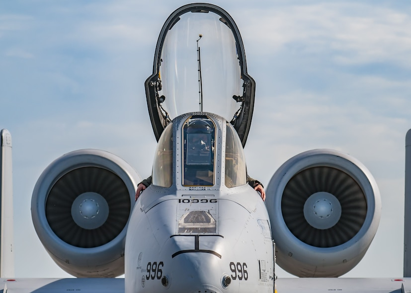 Capt. Jason Davenport, A-10 Thunderbolt II pilot from the 107th Fighter Squadron sits inside the flightdeck during a preflight inspection, Feb. 2, 2018 at Patrick Air Force Base, Fla