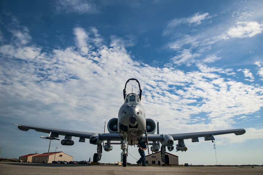 A pilot and crewchief with the 107th Fighter Squadron perform a preflight inspection on an A-10 Thunderbolt II, Feb. 2, 2018 at Patrick Air Force Base, Fla.