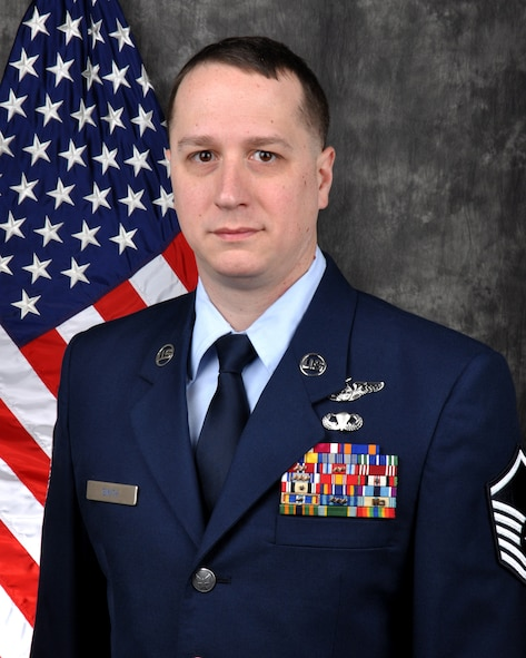Master Sgt. Sean Smith, 445th Aeromedical Evacuation Squadron AE operations technician, is the 445th Airlift Wing Senior NCO of the Quarter, fourth quarter.