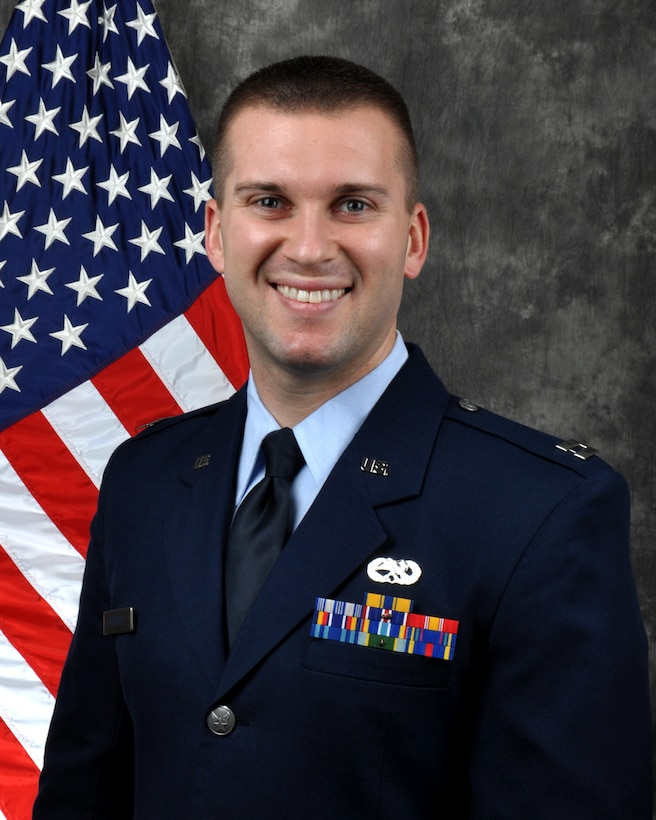 Capt. Tyler Overholt, 445th Maintenance Group quality assurance officer in charge, is the 445th Airlift Wing Company Grade Officer of the Quarter, fourth quarter.