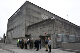 Participants of First Responders Day tour the Old Hickory Dam Hydropower Plant at the project on the Cumberland River in Hendersonville, Tenn., Feb. 1, 2018. (USACE photo by Lee Roberts)