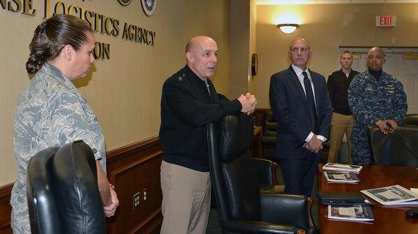 Top Navy Air Boss visits DLA Aviation