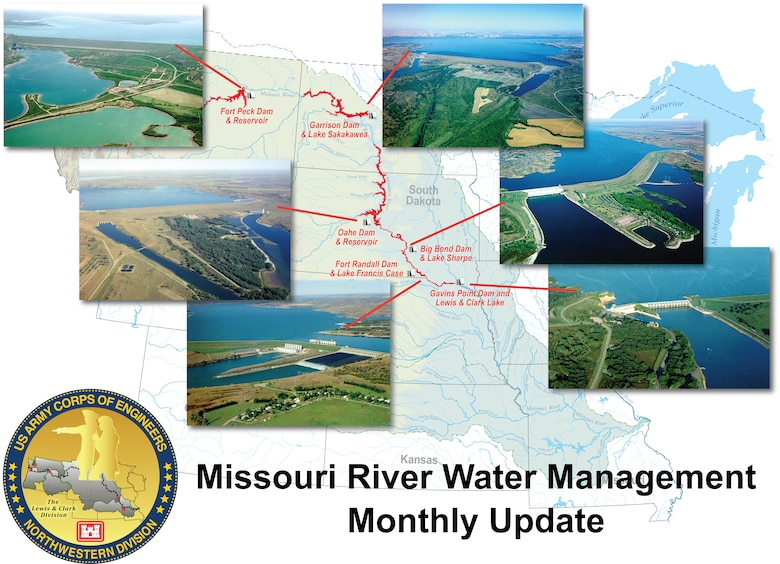 Missouri River Water Management Monthly Update - Each month, from January through the end of the runoff season, Missouri River water managers and weather forecasters report the conditions of the Missouri River Basin.
