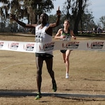 Army Spec. Leonard Korir of Fort Carson, Colo. defended his title at the Armed Forces Cross Country 10k Championship on 3 Feb. in Tallahassee, Fla., and led the Army team to its sixth consecutive title. Korir, from the World Class Athlete Program, blazed to victory in and the race was held in conjunction with the USA Track and Field Cross Country National Championship. Korir said he used his resiliency and determination to win as this was one of the best cross-country fields ever assembled. Army teammates Haron Lagat, the 2017 Army 10-mile champion claimed the Armed Forces silver medal, and Augustus Maiyo, the 2016 Army 10-mile champion, took home the bronze medal.