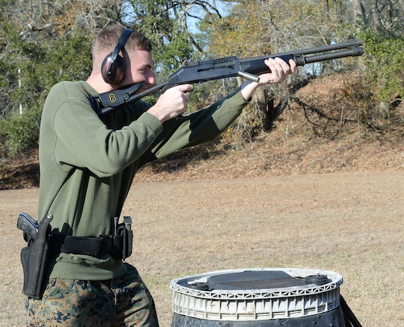 Marines participate in Security Augmentation Force training