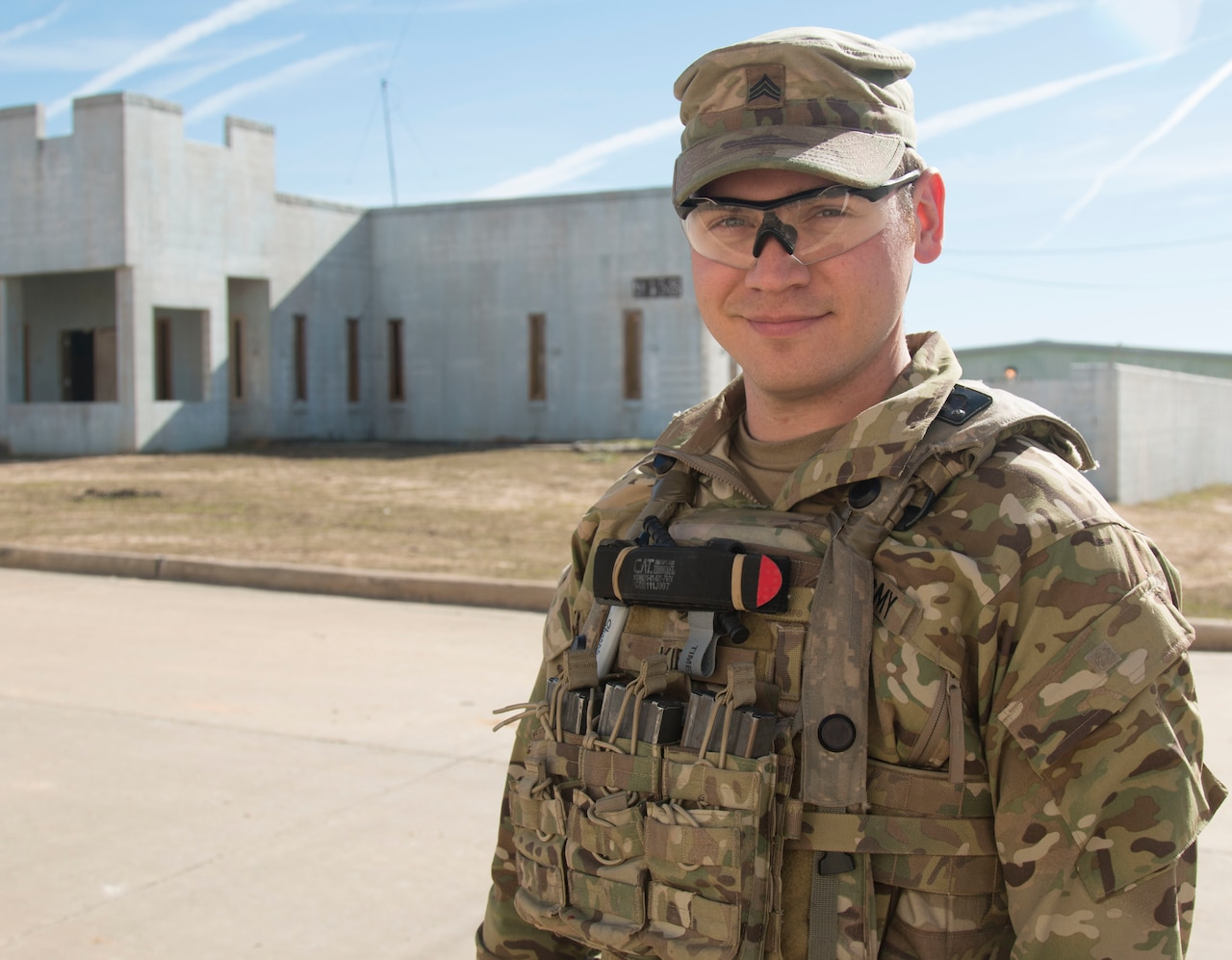 Army Sgt. Randy Kieso, a combat medic with 3rd Battalion, 1st Security Force Assistance Brigade based at Fort Benning, Ga., will deploy for the first time in his Army career with the brigade on its first-ever deployment to Afghanistan in the spring of 2018 following a month-long rotation at the Joint Readiness Center at Fort Polk, La. SFABs are a permanent, additive force structure that is being developed and deployed as a solution to an enduring Army requirement in support of the defense strategy. Army photo by Spc. Noelle E. Wiehe
