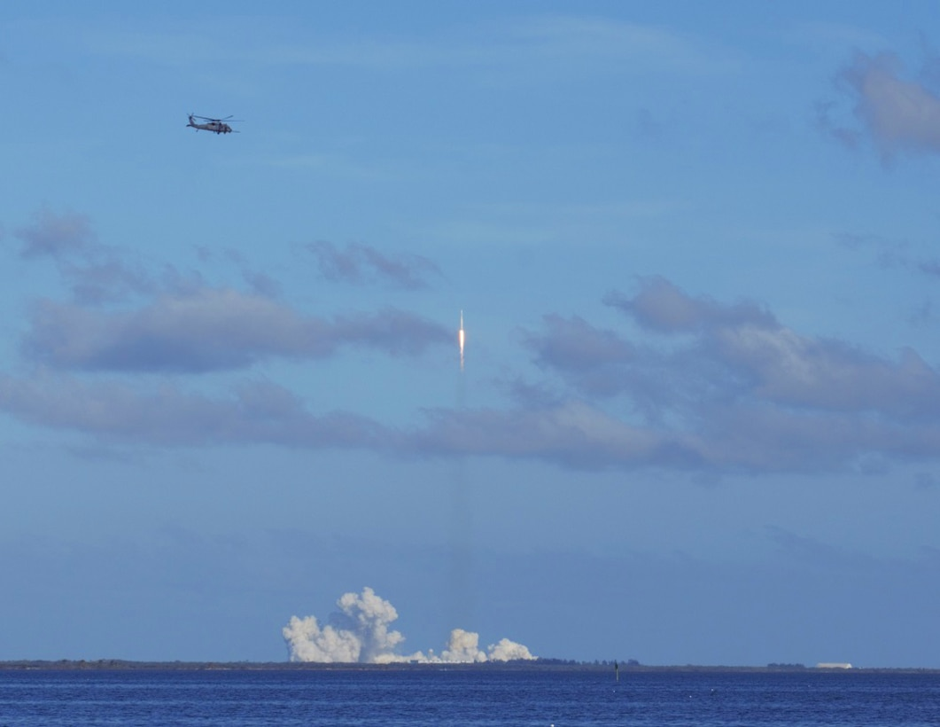Reserve Citizen Airmen from the 920th Rescue Wing support the successful launch of SpaceX's Falcon 9 Heavy launch February 7, 2018.
