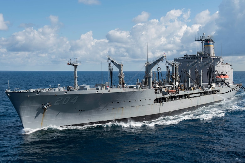 Military Sealift Command's USNS Rappahannock Delivers Fuel to French Frigate