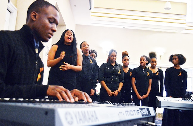 Washington, D.C., Eastern High School Choir offered powerful melodies of perserverance during the annual Black History Month Prayer Breakfast at The Clubs at Quantico.