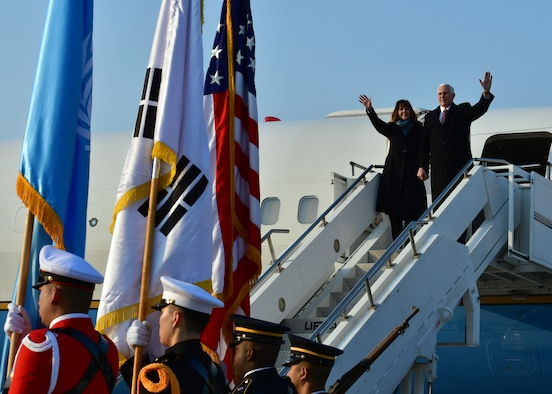 Vice President lands at Osan