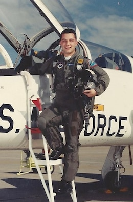 2nd Lt. Joe Mirarchi prepares to fly during undergraduate pilot training in 1988.