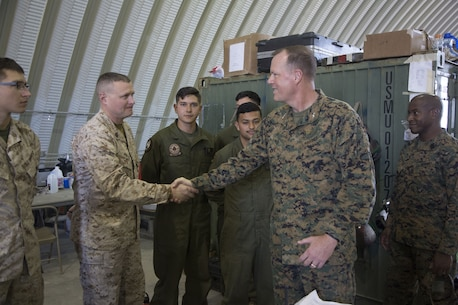 3rd MAW CG visits Marines at ITX 2-18