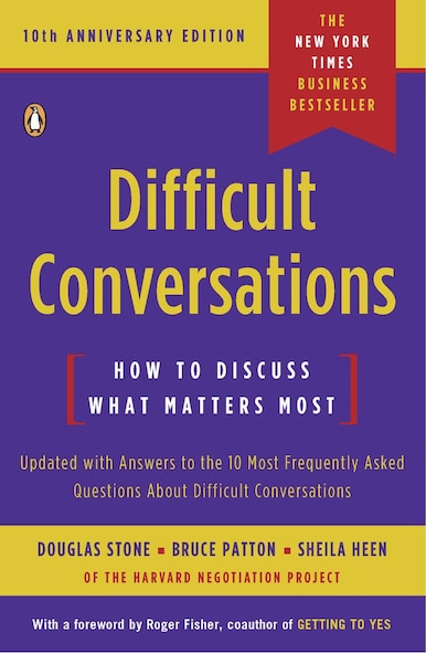 "Cover of the book, ""Difficult Conversations"""