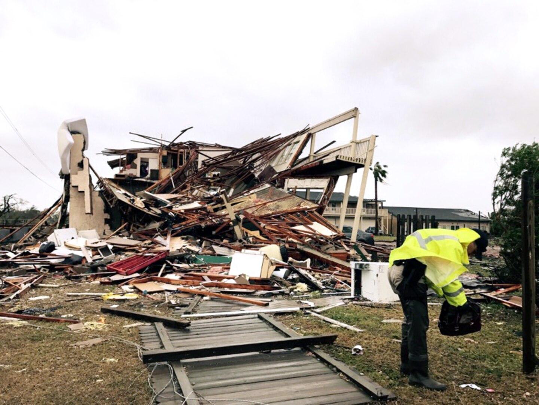 Collapsed apartment