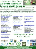 12th Annual First Coast Air Potato (and other invasive plants) Roundup Poster