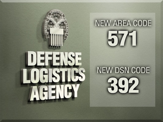 DLA employees in Northern Virginia will soon have a new area code and DSN prefix.