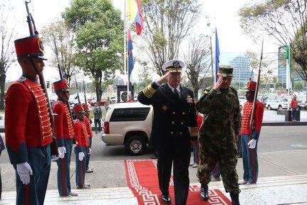 Military leaders salute.