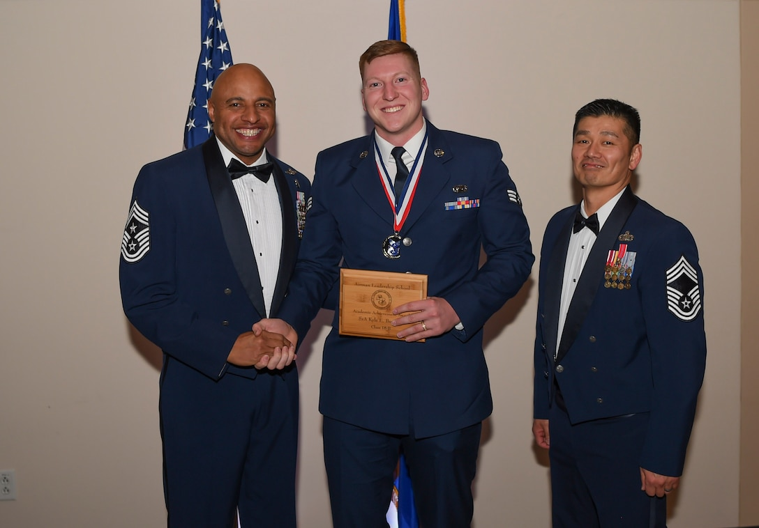 This award denotes excellence as a scholar, is based on all summative objective and performance evaluation scored for the course and is given to the student with the highest academic standing. (U.S. Air Force photo by Airman 1st Class Holden S. Faul)