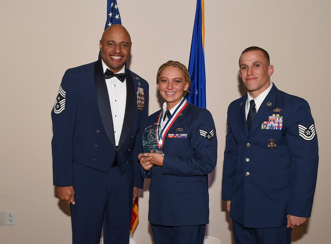 This award is presented to the students with the highest summative objective and performance evaluation scores, as well as leadership points. (U.S. Air Force photo by Airman 1st Class Holden S. Faul)