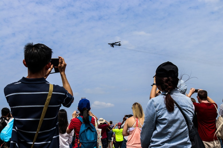 B-52H Stratofortress flies over Singapore International Airshow