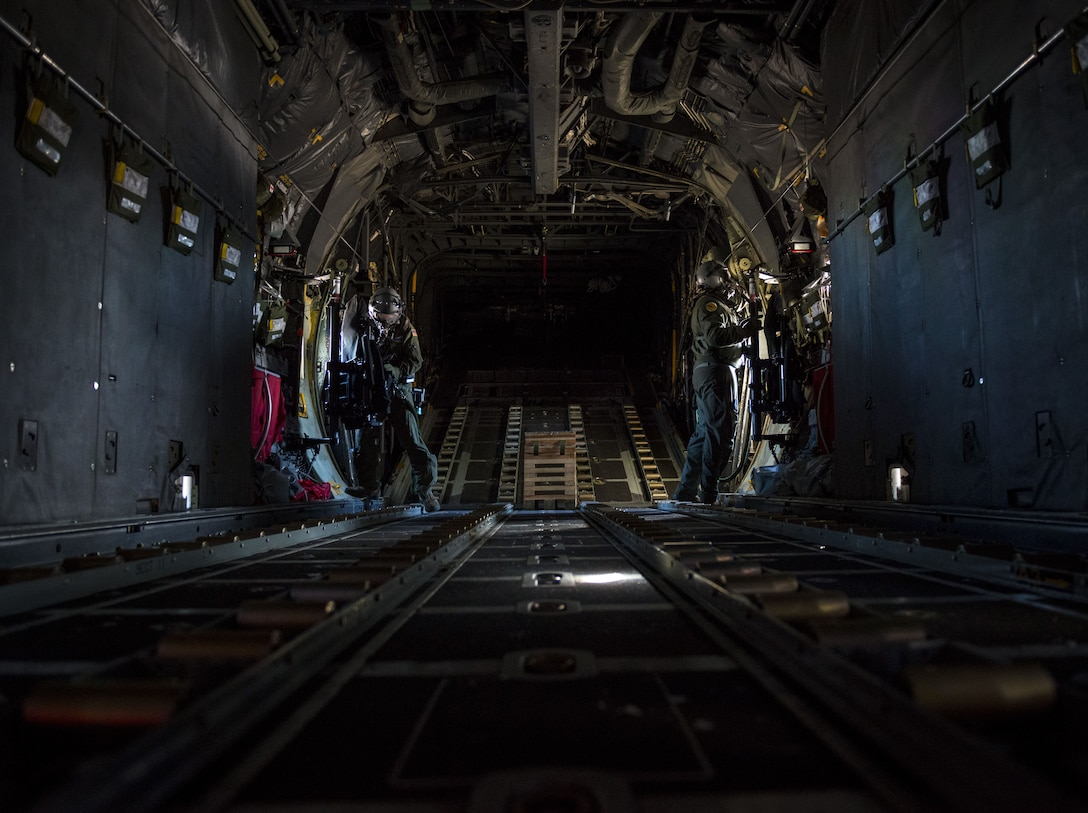 Airmen from the 103rd Airlift Wing participate in an operation readiness exercise at Bradley Air National Guard Base, Conn. on Jan 7, 2018. This readiness exercise prepares Airmen for working in real world CBRNE conditions. (U.S. Air Force photo by Tech Sgt Jeremy Bowcock/released)