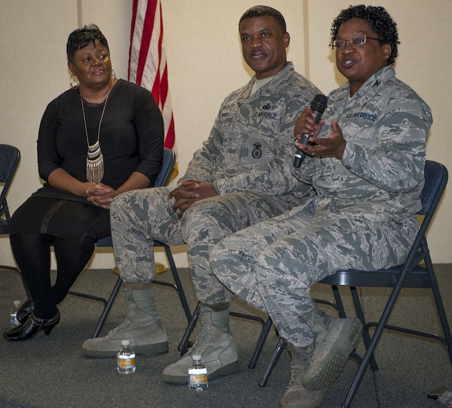 Leadership mentors at Black History panel