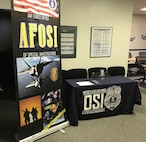 The AFOSI mobile display draws the attention of attendees at each AFOSI Recruiting Roadshow. (USAF photo by SA Dan Chaale)