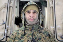 Marine Corps Cpl. Michael Collins is a Grimesland, North Carolina, native and an M88A2 Recovery Vehicle rigger with Company F, 4th Tank Battalion, 4th Marine Division.
