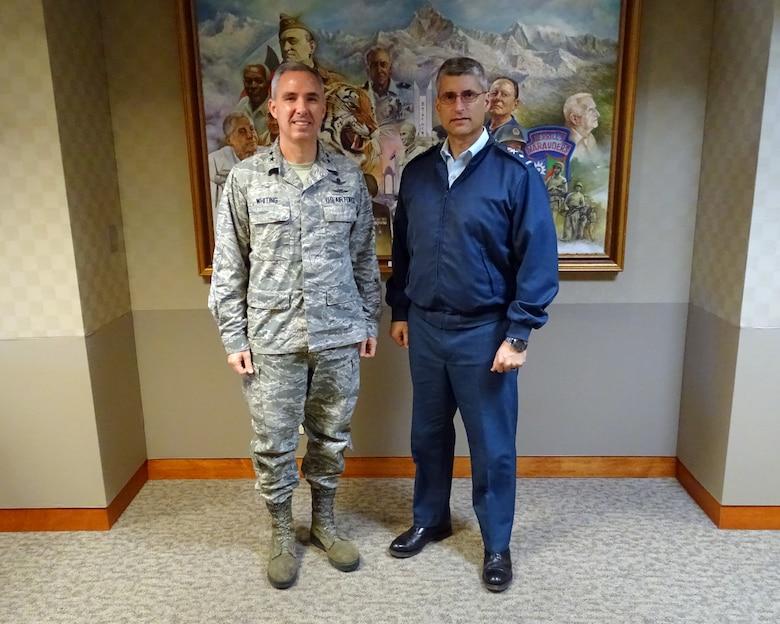 Royal Canadian Air Force Director General for Space Visits Team Vandenberg