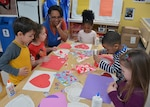 Children make valentines for veterans