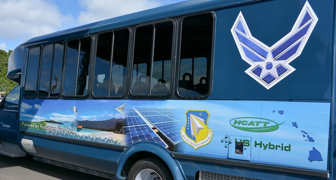 25 passenger bus powered by a hydrogen fuel cell