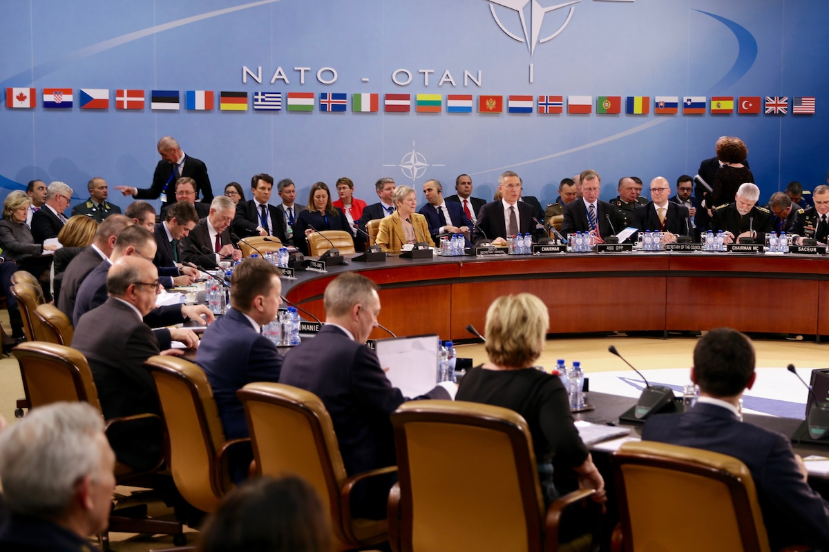 Defense Secretary James N. Mattis meets with NATO defense ministers in Brussels.