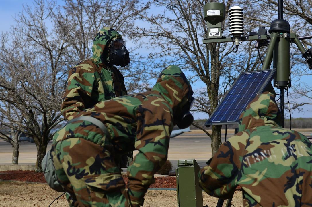Airmen inspect TMQ-53.