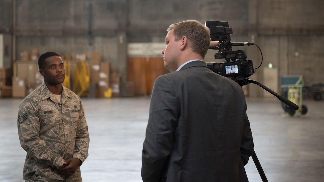 Media Visit; Defense News; NHK; Kadena Air Base