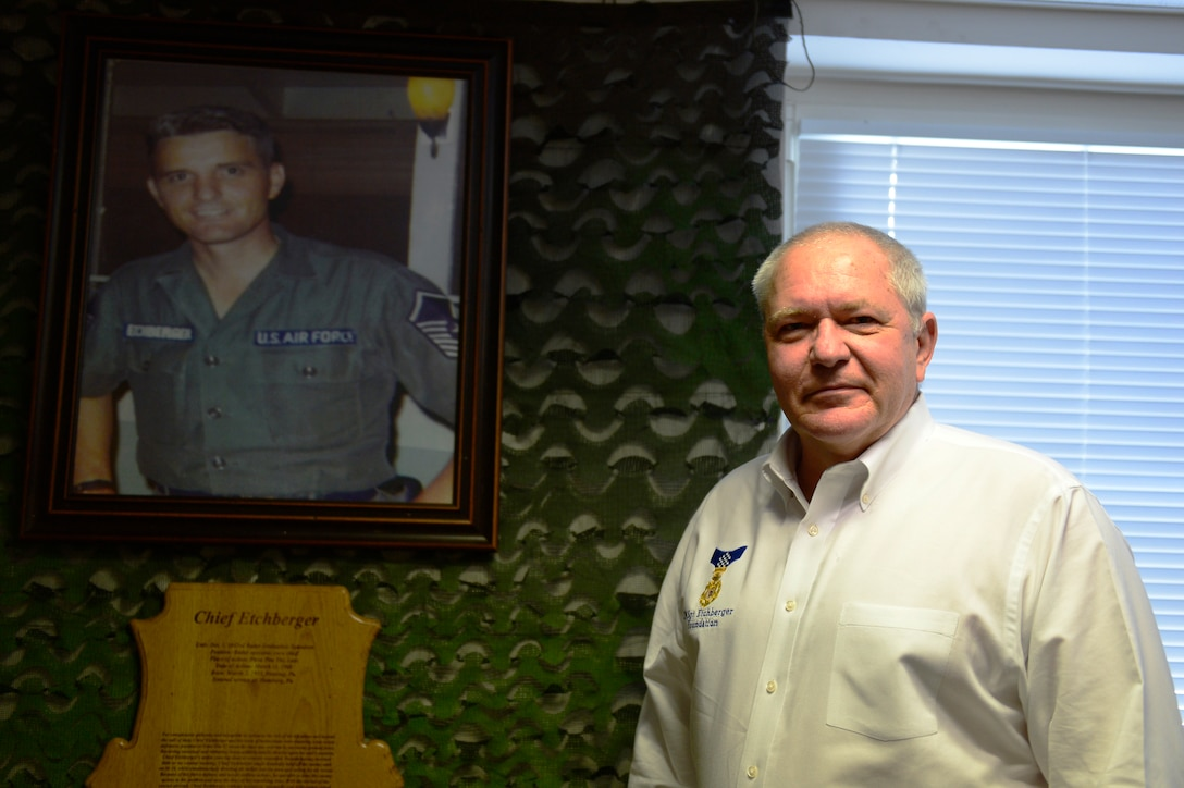 Etchberger recently started a foundation in honor of his father, which helps support families of Airmen.