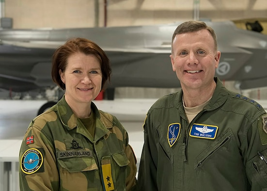 U.S. Air Force Gen. Tod D. Wolters, NATO Allied Air Command and U.S. Air Forces in Europe-Air Forces Africa commander, was hosted by Royal Norwegian Air Force Maj. Gen. Tonje Skinnarland, Chief of the RNORAF, during a visit to Oerland Air Force Station, Norway, Feb. 7-9, 2018. Wolters conducted a comprehensive visit which included two Norwegian bases and the Norwegian Joint Headquarters for updates about the Norwegian activities in the Arctic and North Atlantic.