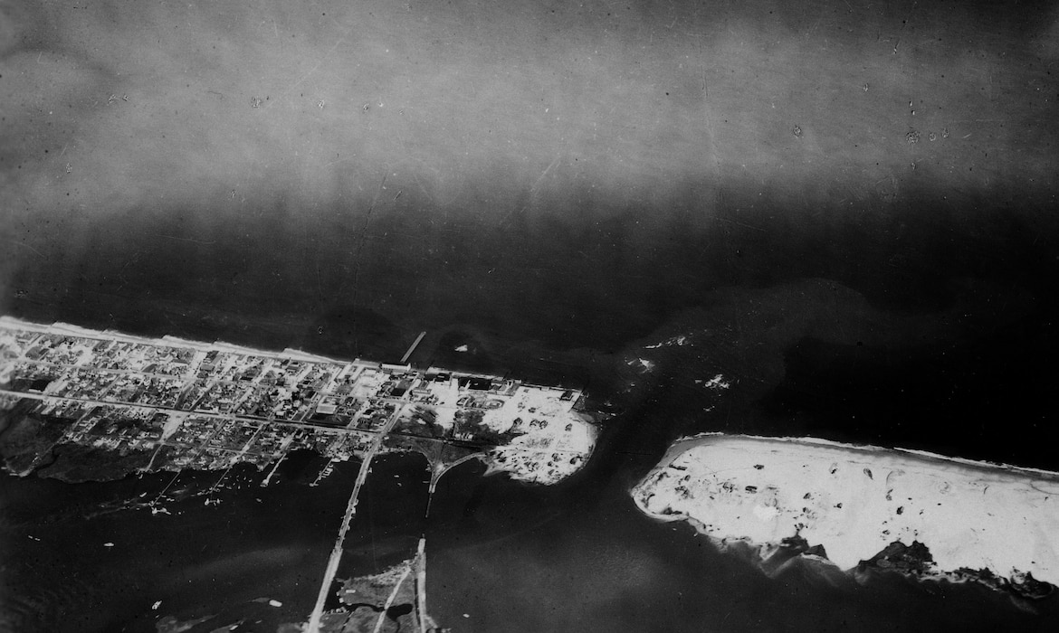File photo from initial creation of Ocean City Inlet by a hurricane in 1933.
