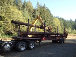 Timber donated from Portland District, U.S. Army Corps of Engineers, property used for South Santiam Watershed Council's Scott Creek restoration project.
