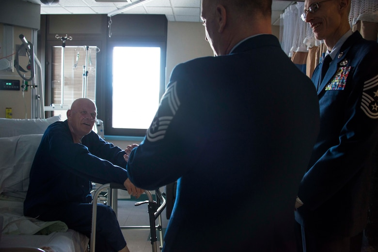 Team Fairchild leaders visit and thank veteran patients