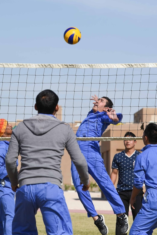 Coalition partners compete at Qatar National Sports Day event
