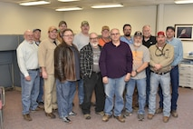 The Air Engineering Metal Trades Council officers pictured with the chief stewards. The officers were elected Dec. 19, 2017 and installed Jan. 25, 2018 at Arnold AFB. The AEMTC has more than 600 members. Not pictured are officers Annette Painter and Neil Aukeman and chief stewards Tim McNeese and Carl P. Hill. (U.S. Air Force photo/Rick Goodfriend)