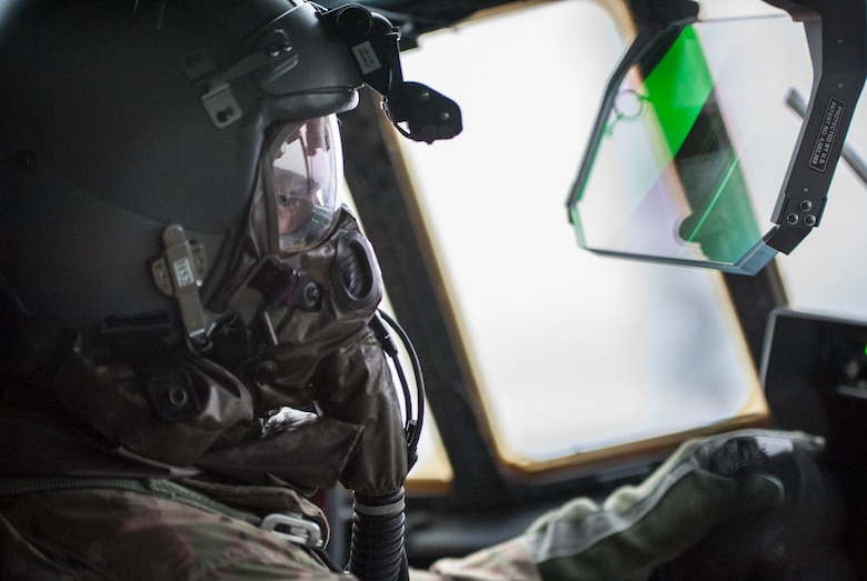 Aircrew conduct in-flight training with protective gear