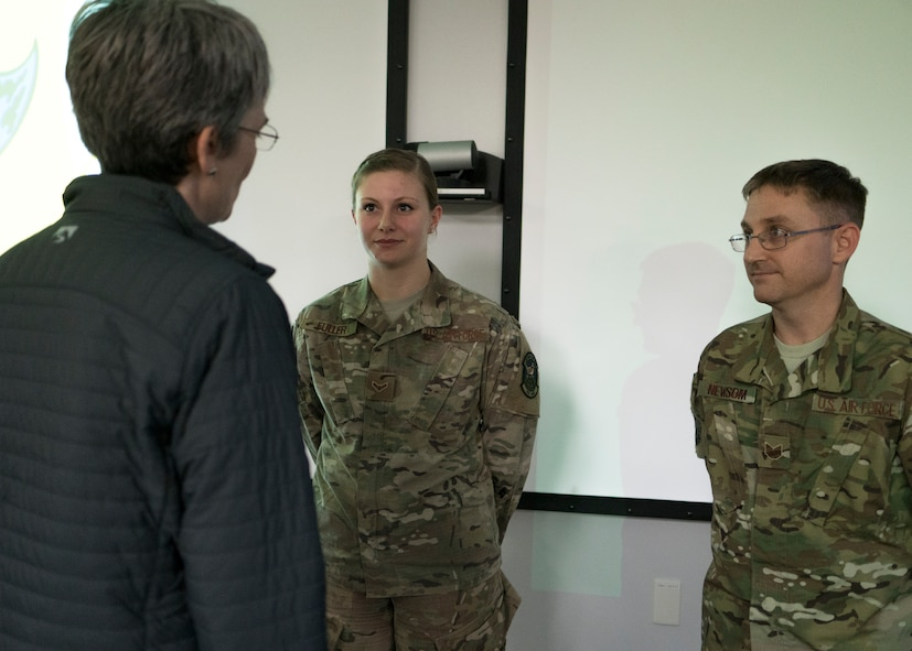 SECAF visits the 353rd Special Operations Group
