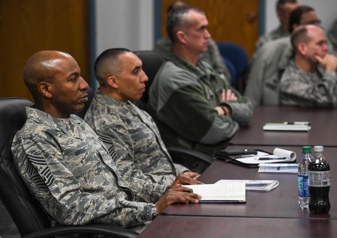 CMSAF Wright visits Minot Airmen