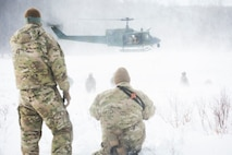 Braving the cold: 91st SFG participates in survival exercise