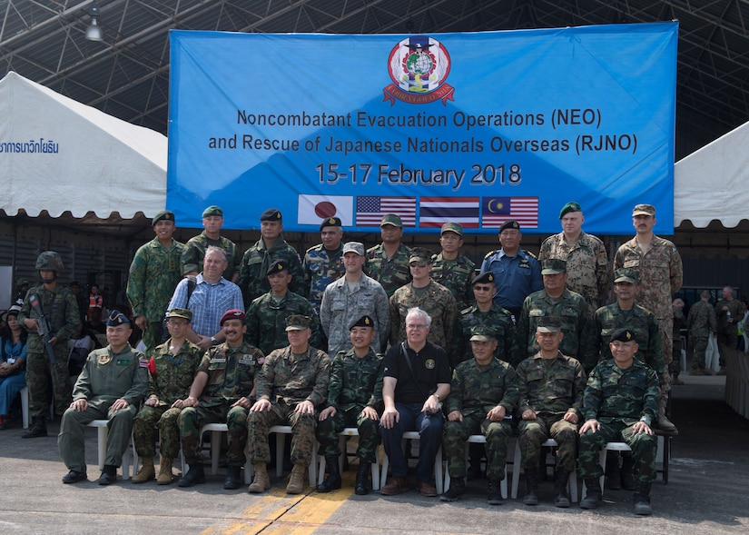 Cobra Gold 18: Japan, Malaysia, U.S. and Thailand Practice NEO and RJNO