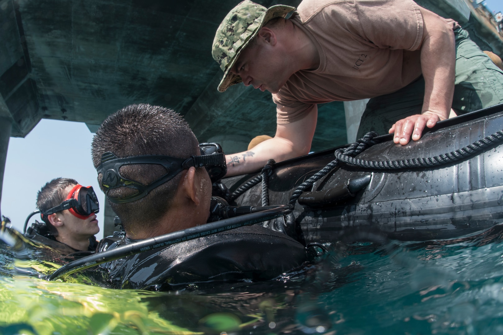 Cobra Gold 18: U.S. Navy, Royal Thai Navy and Republic of Korea Navy Underwater Construction Teams Work Together
