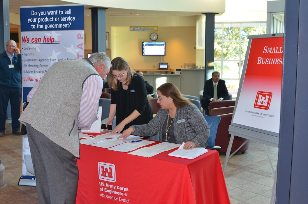 Checking in at the PTAC/USACE Albuquerque Government to Business Outreach Event, Albuquerque, N.M., Feb. 7, 2018.