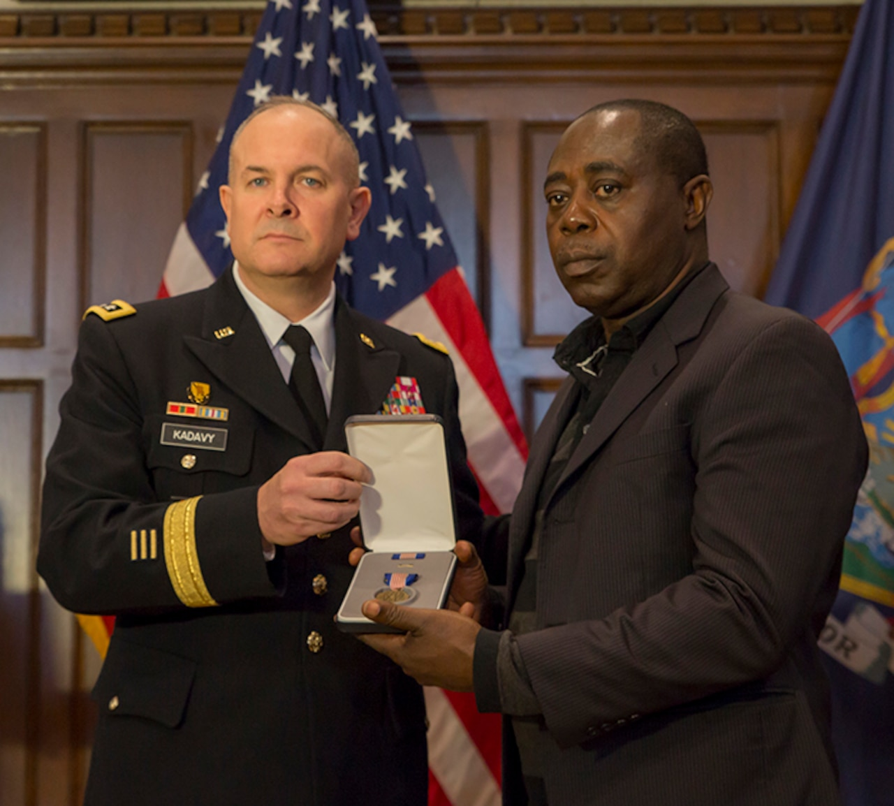Soldier honored for fire rescues