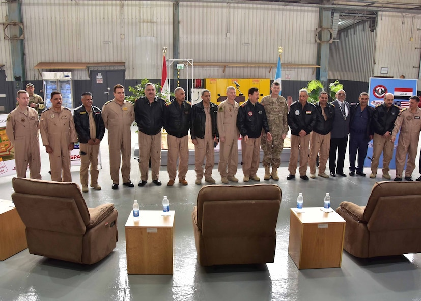 The Government of Iraq and the Coalition celebrate the reopening of the Iraqi Air Force Air Academy